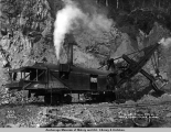 U.S. R[ailwa]y steam shovel near Moose Creek, Alaska.