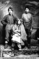 Horse Creek Mary with two Alaska Native men.