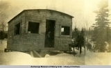 Bootleggers cabin near Chester Cr., March 11, 1928.