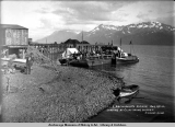 L. Archibald's picnic, Aug. 20, [19]11, landing at Cliff Mine wharf.