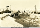 Snowstorm results, 4th Avenue, Anchorage, 1934.