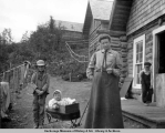 Mrs. O.G. Herning and sons, Knik, Alaska.