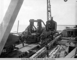 Spreader landed from barge Lawrence, Anchorage, Alaska, June 13, [19]17.