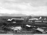 The new machine shop and power plant, A.E.C. R[ailwa]y, Anchorage, Alaska.
