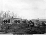 A.E.C. R[ailwa]y bunkhouses nos. 2, 1 and 3, and mess houses, Anchorage, Alaska.