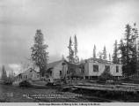 A.E.C. houses nos. 21, 20, 19 and 18, block 17, Anchorage, from corner of Second St. and Chris...