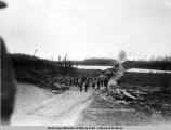 Steel gang at mile 166, A.E.C. R[ailwa]y, May 19, [19]17.