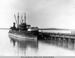 S.S. Turret Crown at Anchorage, Alaska, unloading freight from Panama Canal.