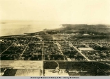 Aerial view of Anchorage, Alaska in the 1930's.