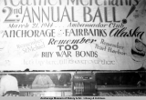 Feather Merchants Second Annual Ball sign, 1944.