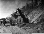 Steam shovel at mile 104.