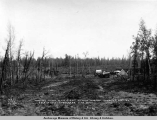 Looking down main street of new Wasilla, showing auction sale of lots in progress, June 20, [19]17.
