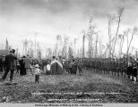 Decoration Day, May 30, 1918, Anchorage, Alaska, ceremony at the cemetery.
