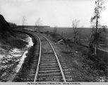 Mile 142 Gov[ernmen]t R[ail]road looking south, Oct. 12, 1918.