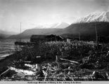 Road house & station at Kenai Lake, Seward Div[ision] Gov[ernmen]t R[ail]r[oad], Oct. 20, 1918.