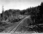 Seward Div[ision] Gov[ernmen]t R[ail]road, showing change of road bed, Oct. 22, 1918.