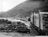 Lumber cut from native timber, Seward Div[ision], Gov[ernmen]t Railroad, Oct. 23, 1918.
