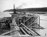 Working on new dock, Aug. 6, 1919.