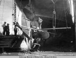Repairing propeller of St[eamer]'s [sic] Admiral Watson while discharging cargo at Anchorage, July...