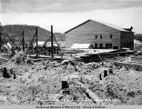 Power house & foundation for washing plant, Oct. 4, 1921.