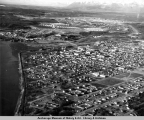 Aerial view Anchorage, 1950.