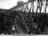 Hurricane Gulch bridge, Aug. 9, 1921.