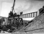 Hurricane Gulch bridge, Aug. 15, 1921.