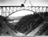 Hurricane Gulch bridge, Aug. 8, 1921.