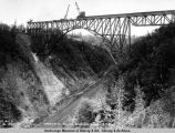 Hurricane Gulch bridge, Aug. 13, 1921.