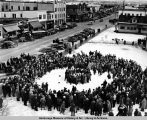 Blanket toss in Anchorage, 1940.