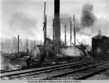 View of power plant after fire, Nov. 14, 1921.