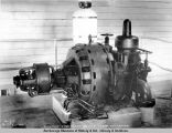 Westinghouse Elect[tric] 60 K.V.A. turbo generator.