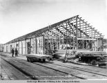 April 14, 1922, Constructing ware-house, 35 x 100, on ocean dock.