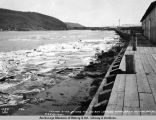 Tanana River during the ice run looking north from Nenana docks, May 13, 1922.