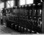 Interior electric power house switchboard, May 2, 1919.