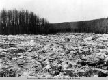 Susitna R[iver] crossing at mouth of Indian, May 12, 1919.