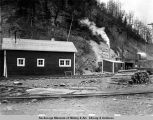 Locomotive barn and Eska West, May 27, 1919.