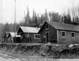 Bunkhouse, office & store buildings, Eska coal mines, May 27, 1919.