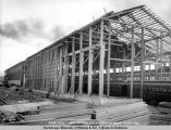 Side view, new carpenter and mashine [sic] shop, 9/24/1922.