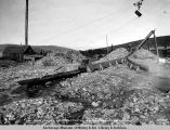 Gold mining near Chatanika, Alaska R[ail]road, Sept. 6, 1922.