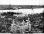 Indian graves which had to be removed from railroad location.