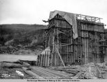 Looking north from pier 11, Tanana bridge site, 9-1-1922.