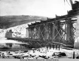 Nov. 2, 1922, Tanana River bridge looking north.