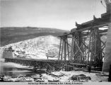 Looking north from south, pier 11, Tanana bridge, 10-27-1922.
