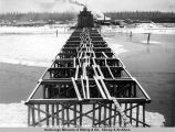 False work, Tanana River bridge, 10-27-1922.