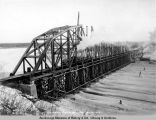 Tanana River bridge, Jan. 5, 1923.