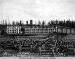 Gov[ernmen]t R[ail]road round house, capacity 12 locomotives, Anchorage, April 29, 1919.