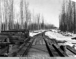 Mile 227, end of steel, April 16, 1919.