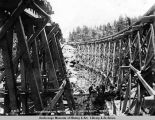 "Reconstructing bridge no. 70, ""looking south"", Oct. 8, 1919."