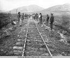 Seward Railroad on Nome River, Nome, Alaska.